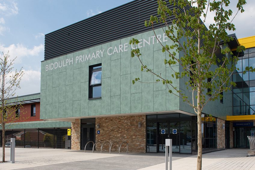 Prime shortlisted for two awards for Biddulph Primary Care Centre