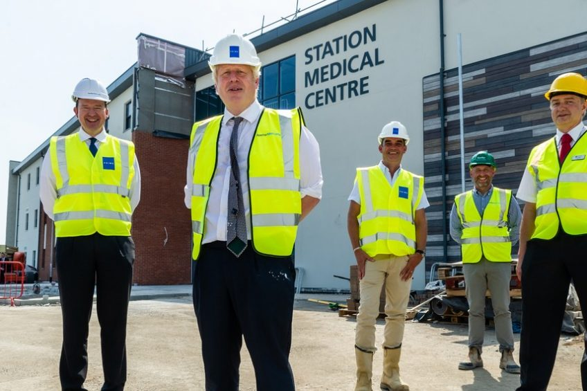 Prime Minister Boris Johnson visits new Medical Centre ahead of Autumn opening