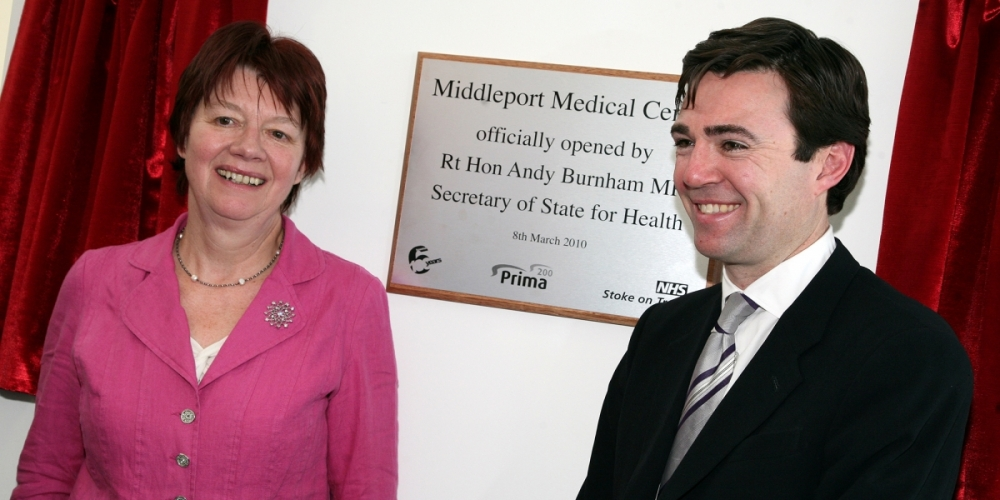 Andy Burnham MP officially opens new medical centre in North Staffordshire